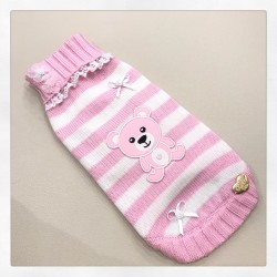 PINK TEDDY ON STRIPES PULL...