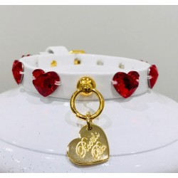RED HEARTS COLLAR WHITE...