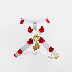 RED HEARTS HARNESS WHITE...