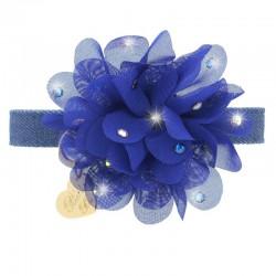 CHIC FLOWER COLLAR BLUE...