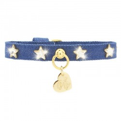 STARS COLLAR BLUE JEANS/GOLD