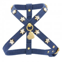 STARS HARNESS BLUE JEANS/GOLD