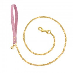 CHAIN LEASH MAGIC PINK/GOLD