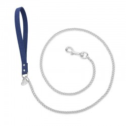 CHAIN LEASH BLUE JEANS/SILVER