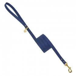PLAIN LEASH BLUE JEANS/GOLD