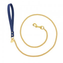 CHAIN LEASH BLUE JEANS/GOLD