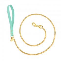 CHAIN LEASH AQUA...