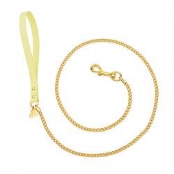 CHAIN LEASH YELLOW...
