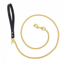 CHAIN LEASH BLACK...