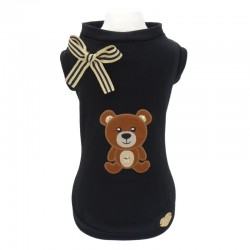 TEDDY ON BLACK T-SHIRT