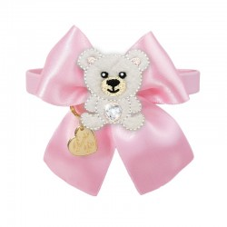 POLAR TEDDY ON BOW COLLAR...