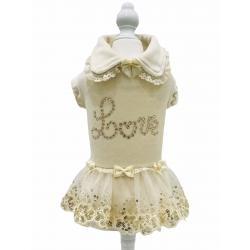 PRETTY LOVE DRESS CREAM