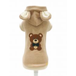 TEDDY BEAR HOODIE CAMEL