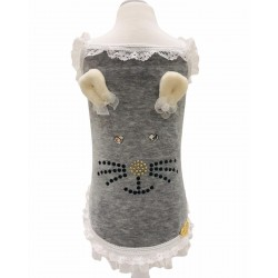 BUNNY FACE TOP TANK GREY