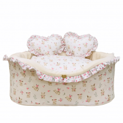 SWEET BUNNY WHITE COTTON BED