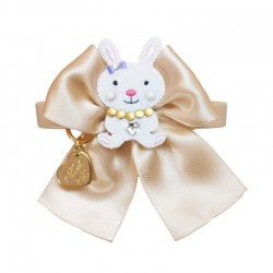 BUNNY ON BOW COLLAR COOKIE...