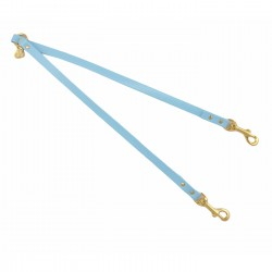TWIN LEASH SKY ECOLEATHER/GOLD