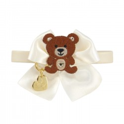 TEDDY BOW COLLAR CREAM...