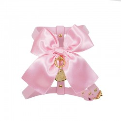 SATIN BOW HARNESS PINK...