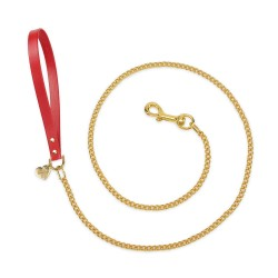 CHAIN LEASH RED...